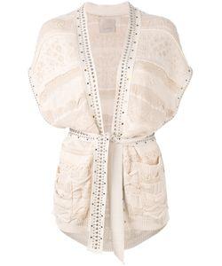 Laneus | Studded Shortsleeved Cardigan Size