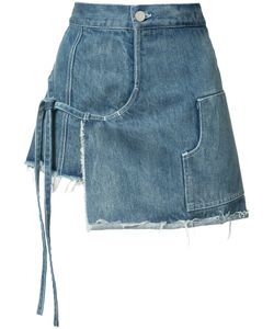 Sandy Liang | Denim Wrap Skort Size 36