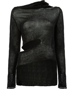 Masnada | Asymmetric Cut Out Detail Knitted Top Size Medium