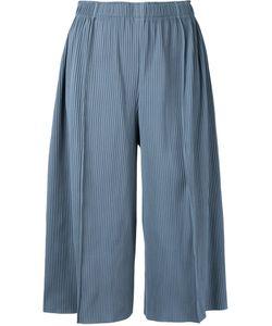 Issey Miyake Cauliflower   A-Poc Pleats 3 Cropped Wide Pants