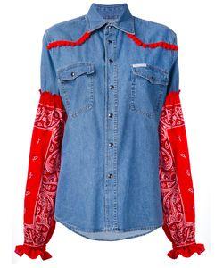 Forte Couture | Paisley Sleeve Denim Shirt