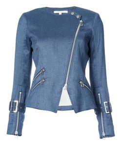 Veronica Beard | Zipped Denim Biker Jacket
