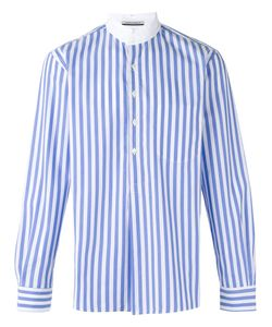 Andrea Pompilio | High Neck Striped Shirt Size 48