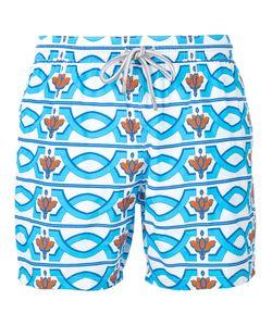 Capricode | Geometric Print Swim Shorts