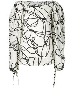 Dries Van Noten | Abstract Print Shift Blouse Size 44