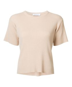 Ryan Roche | Ribbed T-Shirt Medium Polyester/Cashmere