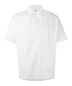 E. Tautz | Pleated Shortsleeved Shirt Xs Cotton