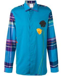 Paul Smith | Check Sleeve Flower Print Shirt
