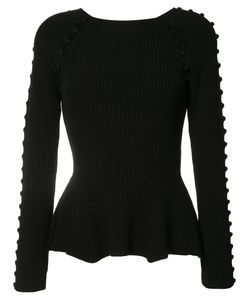 Carolina Herrera | Button Up Rib Knit Jumper Size Small