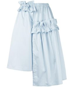 Paskal   Ruched Asymmetrical Skirt Large Cotton/Spandex/Elastane/Polyester