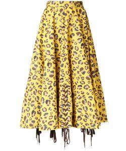 G.V.G.V. | Lace-Up Hem Skirt 34 Cotton/Nylon