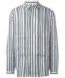 E. Tautz | Parker Striped Shirt Medium Linen/Flax