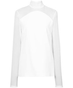 Sally Lapointe | Sheer Panelled Blouse Women