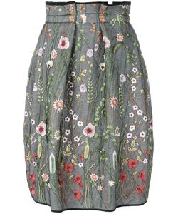 Odeeh | Embroidered Baloon Pleated Skirt
