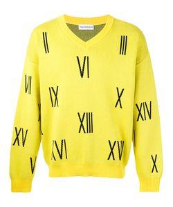 Gosha Rubchinskiy   Numbers V-Neck Sweater Size Medium