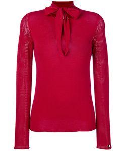 Twin-Set | Neck Tie Sweatshirt L
