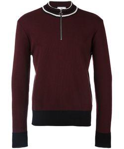 AMI Alexandre Mattiussi   Zipped Collar Sweater Small Virgin