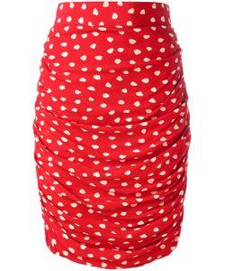 Emanuel Ungaro Vintage | Ruched Polka Dot Skirt 42