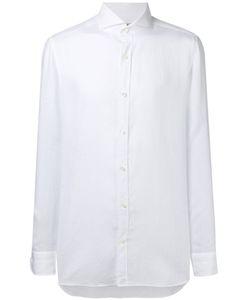 Borrelli | Plain Shirt 42 Linen/Flax