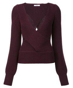 Tome | Cut-Off Detailing V-Neck Blouse Medium Wool