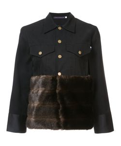 Harvey Faircloth | Fur Panel Buttoned Jacket