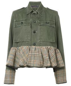 Harvey Faircloth   Peplum Hem Denim Jacket Women