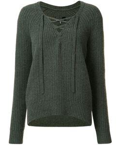 Nili Lotan | Lace-Up Jumper Medium Cashmere