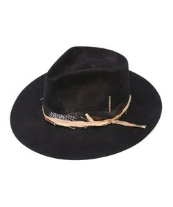 Nick Fouquet | Side Bow Fedora Hat Leather/Silk