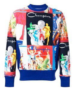 Champion | All Over Print Sweatshirt Size Xl