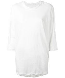 Isabel Benenato | Three-Quarters Sleeve Sheer T-Shirt