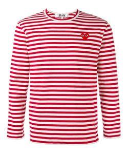 Comme Des Garçons Play   Breton Stripe T-Shirt Size Small