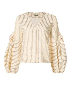 Hellessy | Striped Puff-Sleeve Blouse 6