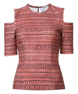 Yigal Azrouel | Tribal Cold Shoulder Top