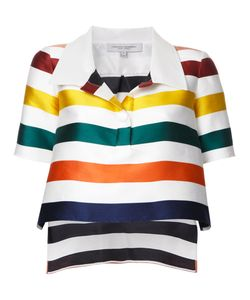 Carolina Herrera | Cropped Striped Blouse Size 8