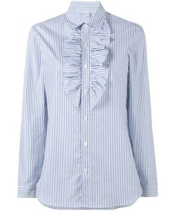 Marie Marot | Ruffle Stripe Long Sleeve Shirt