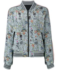 Zadig & Voltaire | Skeleton Print Bomber Jacket Size Small