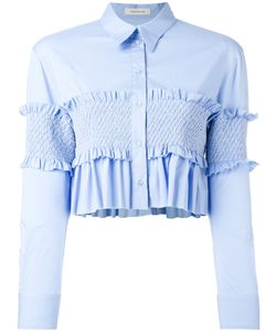Cédric Charlier | Ruffled Cropped Shirt Size