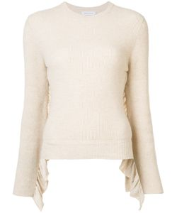 Ryan Roche | Crew Neck Ruffle Sleeve Jumper