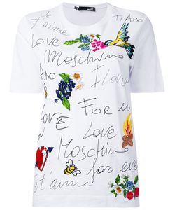 Love Moschino | Printed Embroidered T-Shirt
