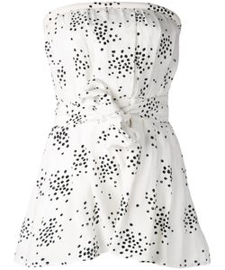 C/Meo | Printed Strapless Playsuit M