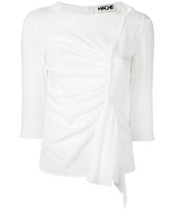 Hache   Gathered Front Blouse Size 44