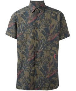 Salvatore Ferragamo | Printed Short Sleeve Shirt Xs Cotton