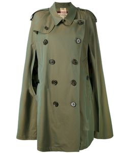 Burberry | Gabardine Cape With Check Detail