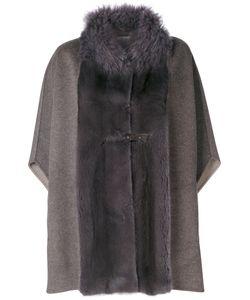 Manzoni 24 | Panelled Cape Coat Women Lamb Skin/Mink