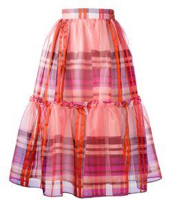 Daizy Shely | Pleated Checked Skirt 40 Silk/Acrylic/Polystyrene/Polyacrylic