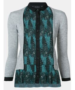 Yigal Azrouel | Tribal Print Pleated Cardigan