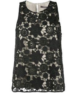 Odeeh | Lace Pattern Drop-Waist Dress 36 Polyester/Polyurethane/Cotton