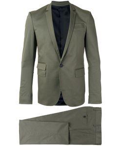 Les Hommes | Single Breasted Suit 46 Cotton/Spandex/Elastane