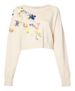 Jason Wu | Embroidered Flowers Sweatshirt Size Medium