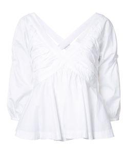 Piamita | V Neck Top Small Cotton